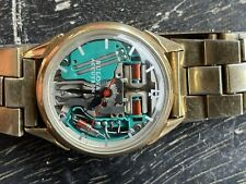 1967 BULOVA ACCUTRON SPACEVIEW 214 GOLD FILLED ALL ORIGINAL BRACELET SERVICED