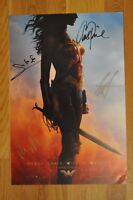 """SDCC 2016 Exclusive Wonder Woman Autographed (signed) Poster 13""""x20"""" Gal Gadot"""