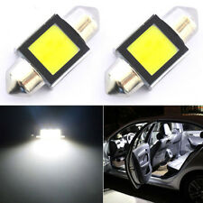 2X 6000K White Super Bright COB LED Map/Dome Interior Lights Bulbs 31MM Festoon
