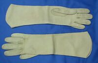 KAYSER? Vintage FRENCH CUT WASHABLE LEATHER GLOVES Taupe Gray LONG STYLE sz 7.5