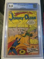 SUPERMAN'S PAL JIMMY OLSEN # 2 CGC 2.5 KEY GOLDEN AGE DC COMIC BOOK RARE!