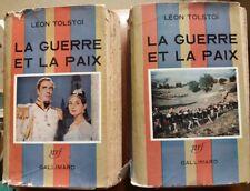 C1 NAPOLEON Russie TOLSTOI - GUERRE ET PAIX Complet 2 Tomes FILM King VIDOR 1957