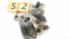 Tibetan Black Quartz Tiny Points 10-30mm .8oz A065-52 DT Phantoms Inclusions