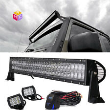 """40"""" 42"""" Straight Led Light Bar Combo Beam +4"""" Pods for JEEP Ford Toyota GMC BMW"""