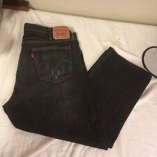 Levis 527 Mens Denim Jeans 44W 30L Black 100% Cotton Red Tab Low Boot Cut FS!