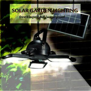 60LED Solar Garage Lights Indoor Outdoor Gazebo Shop Shed Light Barn Remote