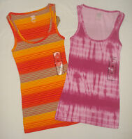 Lot of 2 Womens Route 66 Tank Tops Knit Ribbed Sleeveless XSmall NEW XS