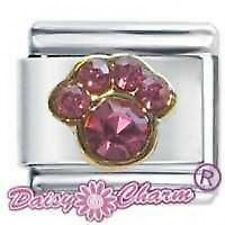 Daisy Charm Pink OCTOBER PAW PRINT - Fits Nomination Classic Size Italian Charm