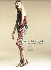 PUBLICITE ADVERTISING 014   2013   ISABEL MARANT  haute couture pantalon CAPRI