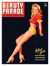 Vintage Beauty Parade Mag cover pinup pin-up July 1943 sexy girl lingerie
