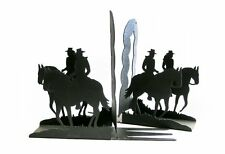 Horseback Riders Bookends Black Bookend Horse