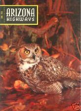 ARIZONA HIGHWAYS ~ June 1956 ~ Horned Owls