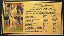 MICHAEL CLARKE Gold Plaque picture and stats new 150x80mm