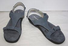 Propet Sandals Shoes Ripple Walker 11 M 42.5 Denium Blue Nubuck Leather Comfort