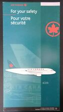 Air Canada Airlines Safety Card A319 PN ACF837B 2000