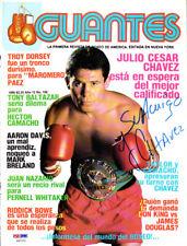 Julio Cesar Chavez Autographed Signed Magazine Cover PSA/DNA COA S47373