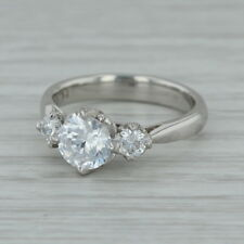 New Tacori Diamond Engagement Ring Platinum Sz 6.5 Semi Mount 3 Stone Cathedral