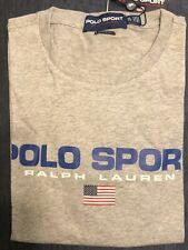 Polo Sport Ralph Lauren 1992 Classic Fit Cotton Tee T Shirt Gray Mens Large
