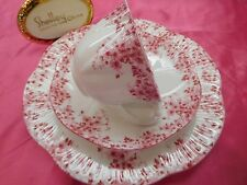 "SHELLEY  DAINTY PINK  DAISY   051/P   ""TRIO""  * *   CUP,  SAUCER  AND 8"" PLATE"
