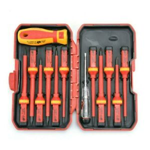 VDE Werkzeug Set Elektriker Schraubendreher, Seitenschneider 13-tlg.