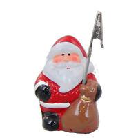 """Kartenhalter Weihnachten """"Weihnachtsmann"""" Keramik handbemalt Tischdeko 8x5cm"""