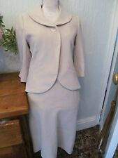 minuet cream 50s/60s cropped skirt suit size  8-10 wedding/occassion