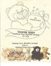 Talking Teddy-Pattern for Making a moving mouth puppet out of a stuffed animal