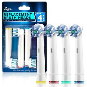 Alayna Replacement Toothbrush Heads Compatible with Oral B Crossaction (4 Pack)