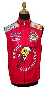 Biemme Sleeveless Jersey XL Red Cycling Racing Shirt Vintage Men Full Zipper
