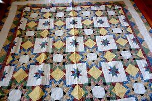 "New Star Patt patchwork quilt Size: 87"" x 87"""