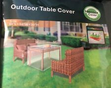 """Hentex Outdoor Patio Furniture Square Table Cover with Rip Stop - 84 x 84 x 30"""""""