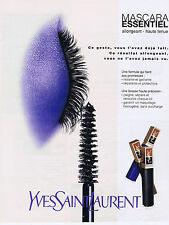 PUBLICITE ADVERTISING 084 1997 YVES SAINT LAURENT Mascara essentiel