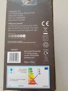 John Lewis plaster LED wall lights x 4