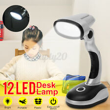 Portable 12LED Desk Lamp Study Reading Camping Bedroom Office Work Table Light