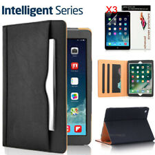 For Apple iPad 5th 2017 / 6th 2018  Premium Leather Case + 3x Screen Protectors