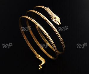 Gold Fashion Punk Arm Cuff Armlet Armband Bangle Bracelet Anklet Accessoris