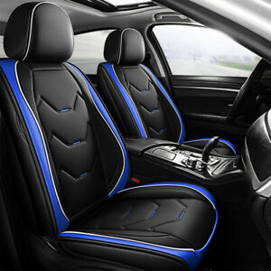 Universal Full Set Car Seat Covers Sporty Pu Leather Pet Protector Front Rear