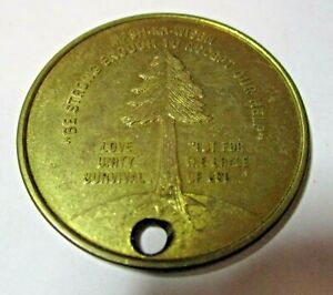 VINTAGE MASH-KA-WISEN SOBRIETY RECOVERY TOKEN ~ VERY DETAILED PIECE !