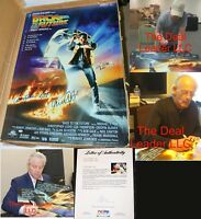 MICHAEL J FOX LLOYD & WILSON SIGNED AUTO 27X40 BACK TO THE FUTURE POSTER PSA JSA