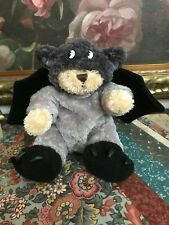 "HALLOWEEN BAT BEAR 9"" Claw Feet Removable Outfit Velvet Wings Animal Adventure"