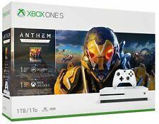Microsoft Xbox One S 1TB Anthem Spielkonsole Bundle - Weiß - Neu - OVP