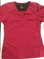 CARHARTT SCRUB TOP  DARK SALMON COLOR V-NECK - 2 POCKET SIZE EXTRA SMALL (XS)