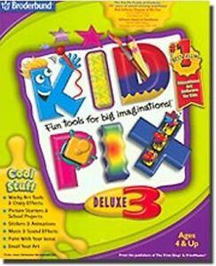 Kid Pix Deluxe 3     KidPix  Fun Tools for Big Imaginations  Brand New