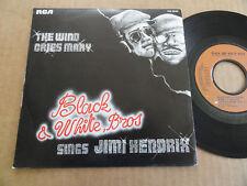 "DISQUE 45T DE BLACK & WHITE BROS  "" SINGS JIMI HENDRIX """