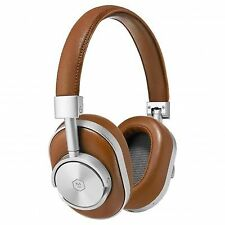 Master & Dynamic Mw60 Over Ear Wireless Headphones Silver/ Brown Leather