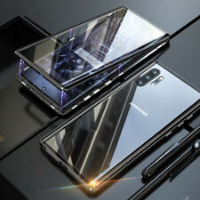 For Samsung Note 20 Ultra / 20 10 + 9 8 Magnetic Metal Double Sided Glass Case