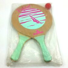 Sportcraft  RALLYBALL Paddle Set With Ball Vintage NOS Wood Beach Sail Boat 80s