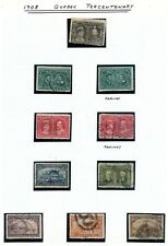 Weeda Canada 96-103 Used 1908 Quebec issues set, clipped perfs CV $369+