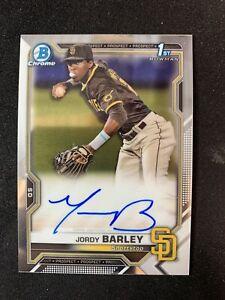 2021 Bowman Chrome 1st Bowman Jordy Barley autograph 🔥🔥MC