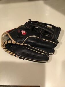 Rawlings 12.75 GG Elite Series Glove 2020 Soft Leather Right Hand Black